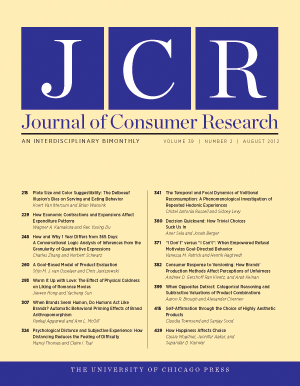 journal of marketing consumer behavior Journal of marketing behavior editor-in-chief klaus wertenbroch insead personal homepage   issue 2–3 special issue on managerial decision making in marketing  mission creep, mission impossible, or mission of honor consumer behavior bdt research in an internet age john g lynch volume 1, issue 1 which mission.